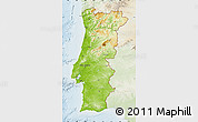 Physical Map of Portugal, lighten