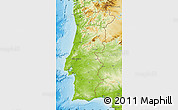 Physical Map of Portugal
