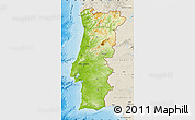 Physical Map of Portugal, shaded relief outside