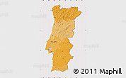Political Shades Map of Portugal, cropped outside