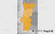 Political Shades Map of Portugal, desaturated