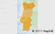 Political Shades Map of Portugal, lighten