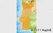 Political Shades Map of Portugal, physical outside