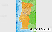 Political Shades Map of Portugal