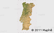 Satellite Map of Portugal, cropped outside