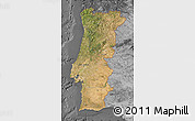 Satellite Map of Portugal, desaturated