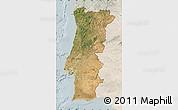 Satellite Map of Portugal, lighten