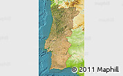 Satellite Map of Portugal, physical outside, satellite sea