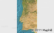 Satellite Map of Portugal