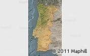 Satellite Map of Portugal, semi-desaturated