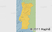 Savanna Style Map of Portugal, single color outside