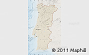 Shaded Relief Map of Portugal, lighten