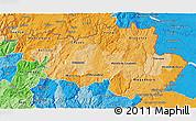 Political Shades 3D Map of Alto Trás-os-Montes