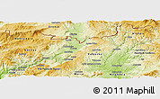 Physical Panoramic Map of Chaves