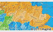 Political Shades Map of Alto Trás-os-Montes