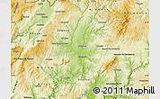 Physical Map of Mirandela