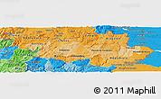 Political Shades Panoramic Map of Alto Trás-os-Montes