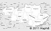 Silver Style Simple Map of Alto Trás-os-Montes