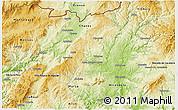 Physical 3D Map of Valpaços