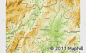 Physical Map of Valpaços