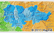 Political Shades 3D Map of Douro