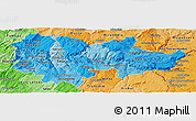 Political Shades Panoramic Map of Douro