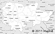 Silver Style Simple Map of Douro