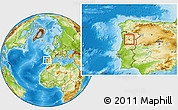 Physical Location Map of Tarouca