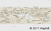 Classic Style Panoramic Map of Vila Nova de Foz Coa