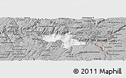 Gray Panoramic Map of Vila Nova de Foz Coa