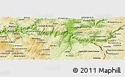 Physical Panoramic Map of Vila Nova de Foz Coa