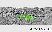 Political Panoramic Map of Vila Nova de Foz Coa, desaturated