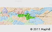 Political Panoramic Map of Vila Nova de Foz Coa, lighten