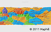 Political Panoramic Map of Vila Nova de Foz Coa