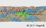 Political Panoramic Map of Vila Nova de Foz Coa, semi-desaturated