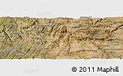 Satellite Panoramic Map of Vila Nova de Foz Coa