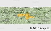 Savanna Style Panoramic Map of Vila Nova de Foz Coa