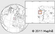 Blank Location Map of Espinho
