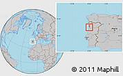 Gray Location Map of Espinho