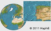 Satellite Location Map of Espinho