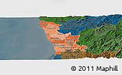 Political Shades Panoramic Map of Grande Porto, darken