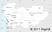 Silver Style Simple Map of Norte, single color outside