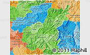 Political Shades 3D Map of Tâmega