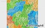 Political Shades Map of Tâmega