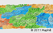 Political Shades Panoramic Map of Tâmega
