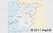 Classic Style Panoramic Map of Portugal, single color outside