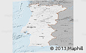 Gray Panoramic Map of Portugal