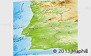 Physical Panoramic Map of Portugal