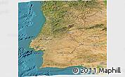 Satellite Panoramic Map of Portugal