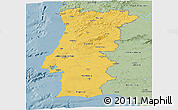 Savanna Style Panoramic Map of Portugal